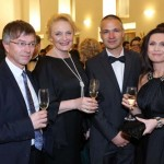 From left: Hynek Chudárek, Director of Business, Czech TV; Regina Rázlová, Actress; Janis Sidovský, Manager, SIDOVSKY Management s.r.o., Iveta Toušlová, Czech TV