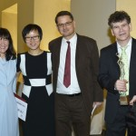 From left: Jane McAdam Freud, Laureate of the Trebbia European Award 2014; Shumei Zhang, Linguist from China; Martin Weber, Curator and Art Collector; Peter McAdam Freud, Jane's husband