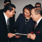 (From right) Václav Havel, Ex-President